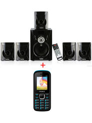 Combo of Tanyo 5.1 Home Speaker + I Kall K55 Feature Phone