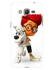 Snooky Designer Print Hard Back Case Cover For Samsung Galaxy Core Prime G360H - White