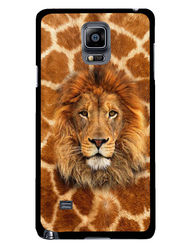 Snooky Designer Print Hard Back Case Cover For Samsung Galaxy Note 4 - Brown