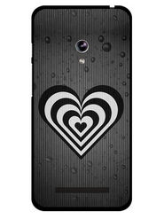 Snooky Designer Print Hard Back Case Cover For Asus Zenfone 4.5 - Grey