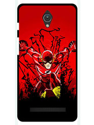 Snooky Designer Print Hard Back Case Cover For Asus Zenfone C ZC451CG - Red