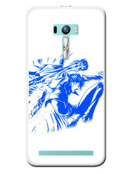 Snooky Designer Print Hard Back Case Cover For Asus Zenfone Selfie ZD551KL - Blue
