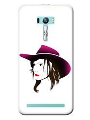 Snooky Designer Print Hard Back Case Cover For Asus Zenfone Selfie ZD551KL - White