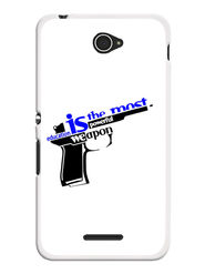 Snooky Designer Print Hard Back Case Cover For Sony Xperia E4 - White