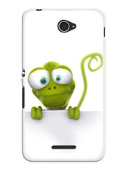 Snooky Designer Print Hard Back Case Cover For Sony Xperia E4 - Green