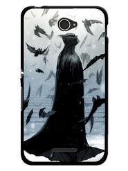 Snooky Designer Print Hard Back Case Cover For Sony Xperia E4 - Grey