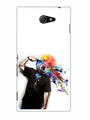 Snooky Designer Print Hard Back Case Cover For Sony Xperia M2 - Multicolour