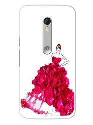 Snooky Designer Print Hard Back Case Cover For Motorola Moto X Play - Pink