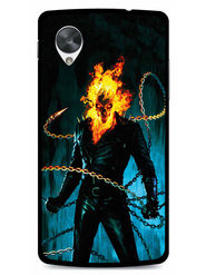 Snooky Designer Print Hard Back Case Cover For LG Google Nexus 5 - Black