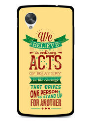 Snooky Designer Print Hard Back Case Cover For LG Google Nexus 5 - Cream