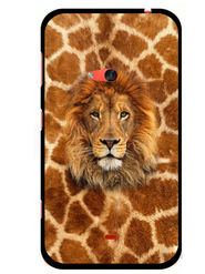 Snooky Designer Print Hard Back Case Cover For Nokia Lumia 625 - Brown