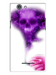 Snooky Designer Print Hard Back Case Cover For Xolo A500s - Purple