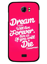 Snooky Designer Print Hard Back Case Cover For Micromax Canvas 2 A110 - Rose Pink
