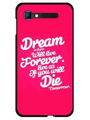 Snooky Designer Print Hard Back Case Cover For Intex Aqua Y2 pro - Rose Pink