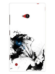 Snooky Designer Print Hard Back Case Cover For Nokia Lumia 720 - White