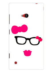 Snooky Designer Print Hard Back Case Cover For Nokia Lumia 720 - Pink