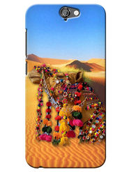 Snooky Digital Print Hard Back Case Cover For HTC One A9 - Yellow