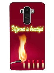 Snooky Digital Print Hard Back Case Cover For LG G4 Stylus - Mehroon
