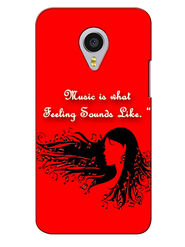 Snooky Digital Print Hard Back Case Cover For Meizu MX4 Pro - Red