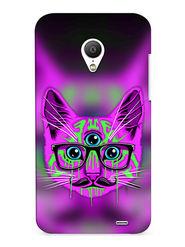 Snooky Digital Print Hard Back Case Cover For Meizu MX3 - Purple