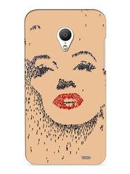 Snooky Digital Print Hard Back Case Cover For Meizu MX3 - Brown