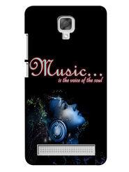 Snooky Digital Print Hard Back Case Cover For Micromax Bolt Q331 - Black