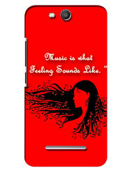 Snooky Digital Print Hard Back Case Cover For Micromax Canvas Juice 3 Q392 - Red