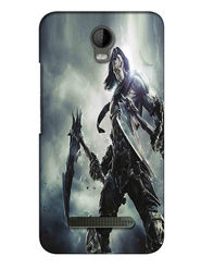 Snooky Digital Print Hard Back Case Cover For Micromax Bolt Q335 - Grey