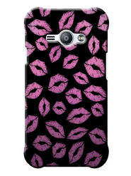 Snooky Digital Print Hard Back Case Cover For Samsung Galaxy J1 Ace - Black