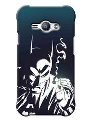 Snooky Digital Print Hard Back Case Cover For Samsung Galaxy J1 Ace - Black