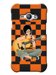 Snooky Digital Print Hard Back Case Cover For Samsung Galaxy J1 Ace - Orange