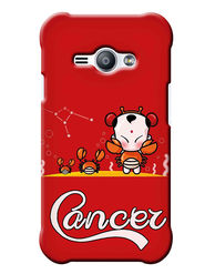 Snooky Digital Print Hard Back Case Cover For Samsung Galaxy J1 Ace - Red