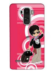 Snooky Digital Print Hard Back Case Cover For LG G4 Stylus - Rose Pink