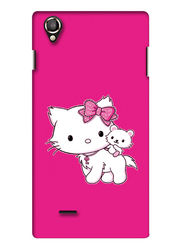 Snooky Digital Print Hard Back Case Cover For Lava Iris 800 - Pink