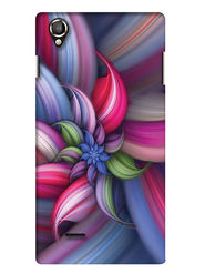 Snooky Digital Print Hard Back Case Cover For Lava Iris 800 - Blue
