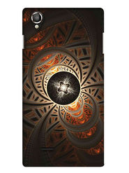 Snooky Digital Print Hard Back Case Cover For Lava Iris 800 - Brown