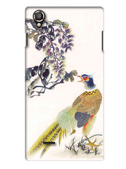 Snooky Digital Print Hard Back Case Cover For Lava Iris 800 - Cream