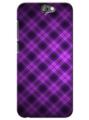 Snooky Digital Print Hard Back Case Cover For HTC One A9 - Purple