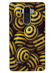 Snooky Digital Print Hard Back Case Cover For LG G4 Stylus - Yellow