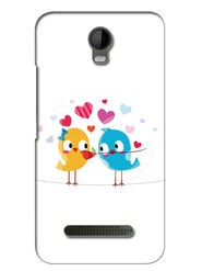 Snooky Digital Print Hard Back Case Cover For Micromax Bolt Q335 - White