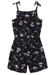 ShopperTree Printed Black Viscose Jumpsuit -ST-1634_6-12M
