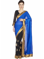 Designersareez Faux Georgette Embroidered Saree -1812