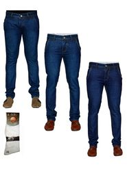 Pack of 3 Denim Cafe Regular Fit Cotton Jeans For Men_12448639