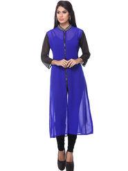 Lavennder Georgette Solid Dresses -623617