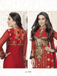 Adah Fashions Embroidered Georgette & Net Semi-Stitched Suit 720-5141