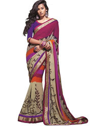 Zoom Fabrics Georgette Printed Saree -A1114