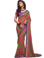 Zoom Fabrics Georgette Printed Saree -A1122