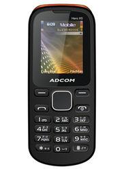 Adcom X5 With Voice Changer Dual Sim Mobile - Black & Orange