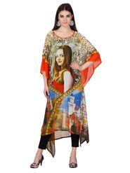 Admyrin Georgette Printed Kaftan Multicolour _ AY-KR-V16-1365