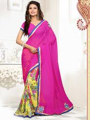 Viva N Diva Georgette  Embroidered Saree Anaisha-1005